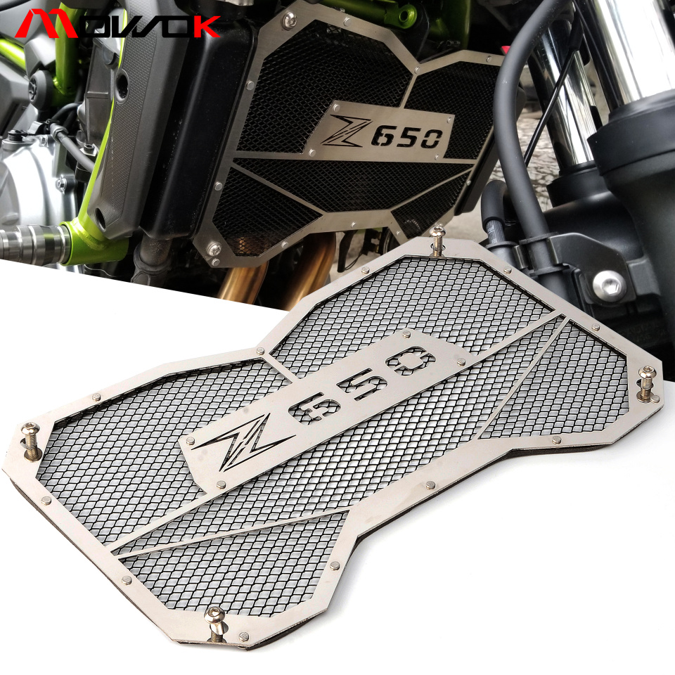 Motorcycle For Kawasaki Z650 2017 2018 z650 Grille Radiator Cover Oil Water CoolerMotorcycle For Kawasaki Z650 2017 2018 z650 Grille Radiator Cover Oil Water Cooler