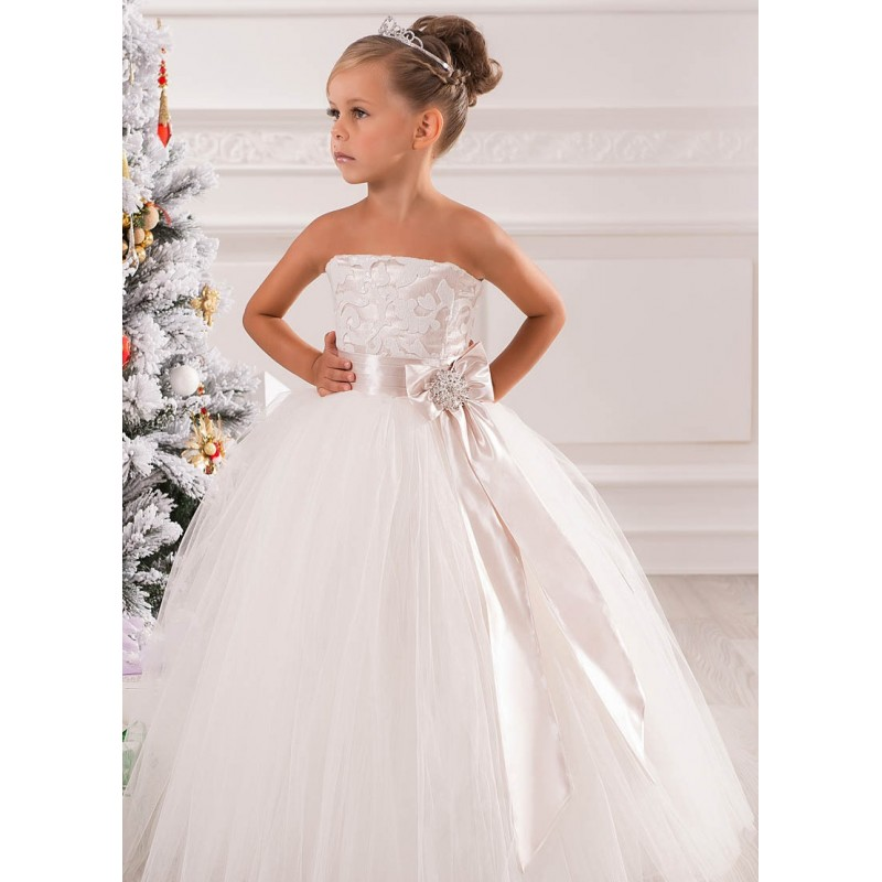 Dresses For Flower Girls For Weddings: New 2017 Ball Gown Off The Shoulder Lace Flower Girls