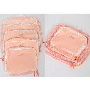 Image 4 - 5PCS/Set High Quality Oxford Cloth Travel Mesh Bag Luggage Organizer Packing Cube Organiser Travel Bags Travel Bags Packing Cube