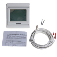 LCD Programmable Floor Heating Thermostat Controller Temperature Touch Screen New