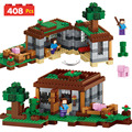 408pcs My World Series Model Building Blocks Kit Compatible LegoINGLYS Minecrafter Village Castle Eductional Toys For Children