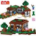 Mi mundo serie educativo técnica de bloques de construcción de Castillo juguetes de los niños Compatible LegoINGLYS Minecrafter 408 piezas