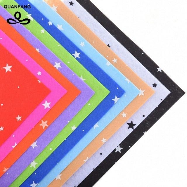 Gedruckt Sterne Non Woven Filz Stoff 1mm Dicke Polyester Tuch Nähen ...