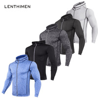 Thin Bodybuilding Sweatshirts Men MMA Rashguard Zipper Fitness Gyms Hoodies Men Workout Crossfit Pullover Sportswear Tracksuit