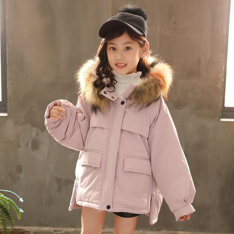 Girls Winter Jackets 2018 Teenagers Cotton Thick Children's Kids Coats Christmas Big Girl Snowsuit 7 8 9 10 11 12 13 14 15 16 Y недорого