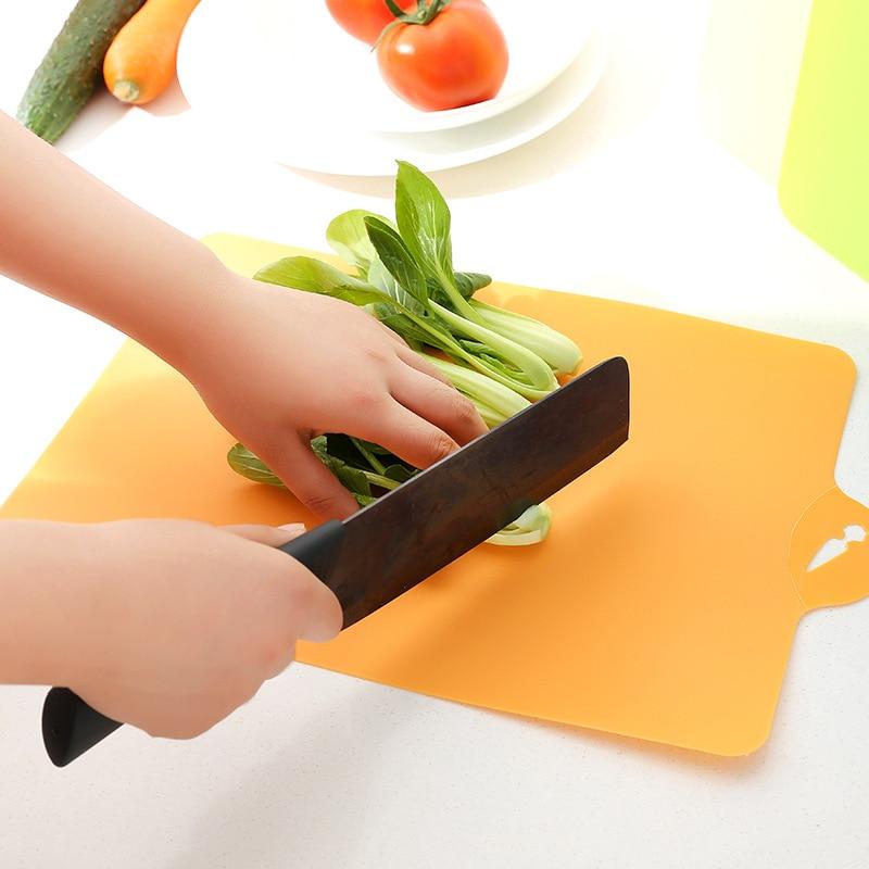24x34.9cm Fruit Chopping Board Chopping Block Plastic Camping Outdoor Cutting Board Cooking Mat Antibiotic Kitchen Utensils
