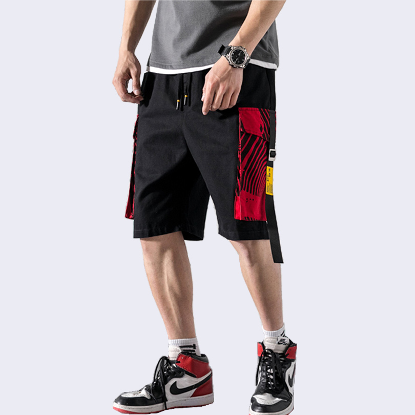 Men's Cotton Cargo Shorts Streetwear Hip Hop Jogging Men Casual Shorts Multi Pockets Baggy High Quality Male Summer Shorts A951