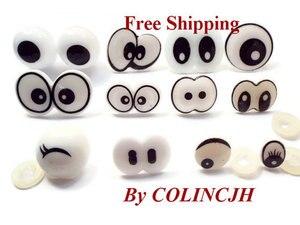 100pairs/Lot Mix Cartoon Plastic Animal Eyes Free Ship