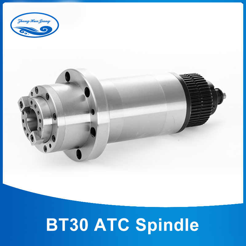 ATC spindle BT30 Spindle CNC Milling Rounter Electric Spindle Motor 220V with Synchronous Belt for BT30 Spring + Drawbar ATC spindle BT30 Spindle CNC Milling Rounter Electric Spindle Motor 220V with Synchronous Belt for BT30 Spring + Drawbar
