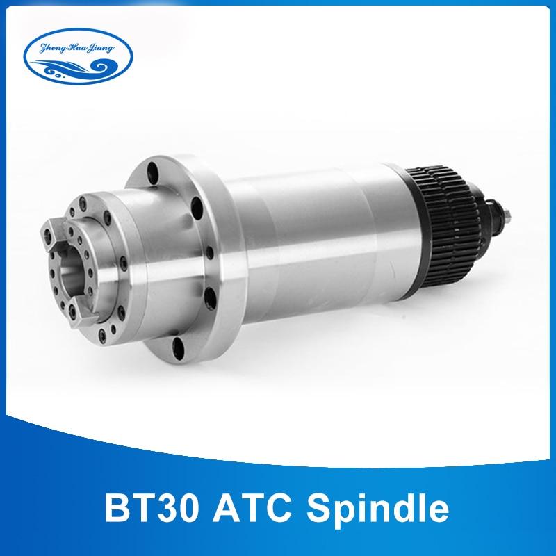 ATC mandrino BT30 Mandrino di Fresatura CNC Rounter Motore Mandrino Elettrico 220 V con Cinghia Sincrona per BT30 Primavera + Timone