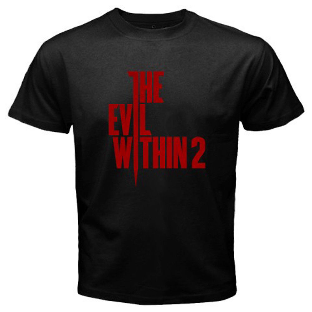 2018 Latest Fashion New The Within Survival Horror Game Logo Mens Black T-Shirt Size S to 3XL Hip-Hop Tops Tees