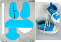 Baby shoes die muyu cutting die new wooden mould cutting dies for scrapbooking Thickness 15.8mm