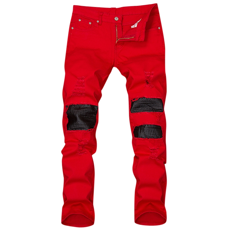 Popular Red Skinny Jeans Men-Buy Cheap Red Skinny Jeans Men lots ...
