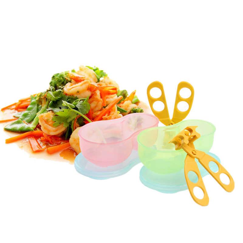 เด็กชามทารกอาหารกรรไกรเด็กวัยหัดเดินให้อาหารจานผักอาหารผลไม้อาหารเสริมเด็กภาชนะ T0641