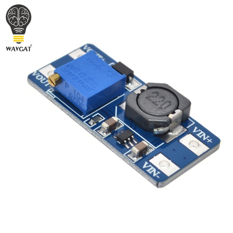WAVGAT 5PCS MT3608 DC-DC Step Up Converter Booster Netzteil Modul Boost-Step-up Board MAX ausgang 28V 2A Für Arduino