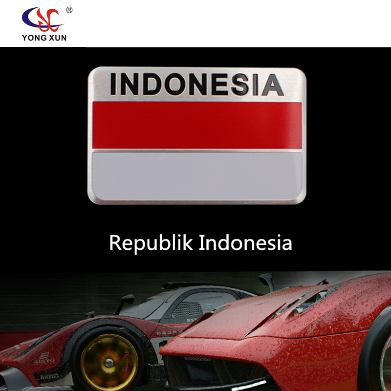 Car Styling Indonesia Flag Car Sticker Emblem Decal Badge Of For