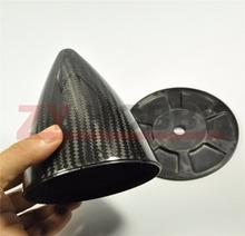 1piece 4″ Carbon Fiber Spinner For Gas Plane RC Airplane with no Cut NEW