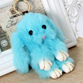 Hot New 100% Rabbit Hair Soft Fur Cute Key Chains Purse Bag Jeans Decoration Jewelry Baby GirlsToy Pendant Gift for Women