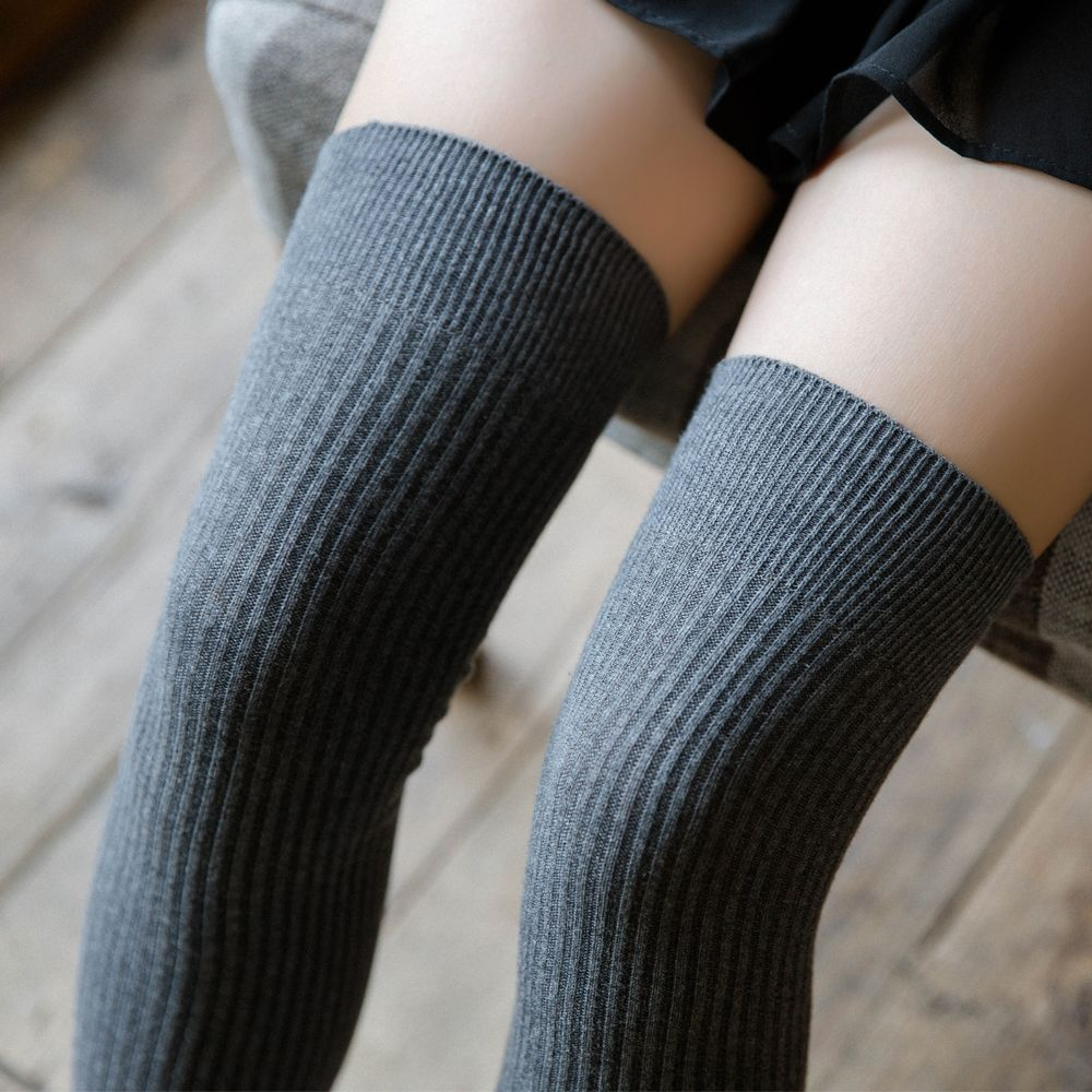 Sexy Women's Stockings Gaiters Striped Long Socks Thigh High Stockings Female Erotic Warm Over Knee Socks Women Winter Stocking