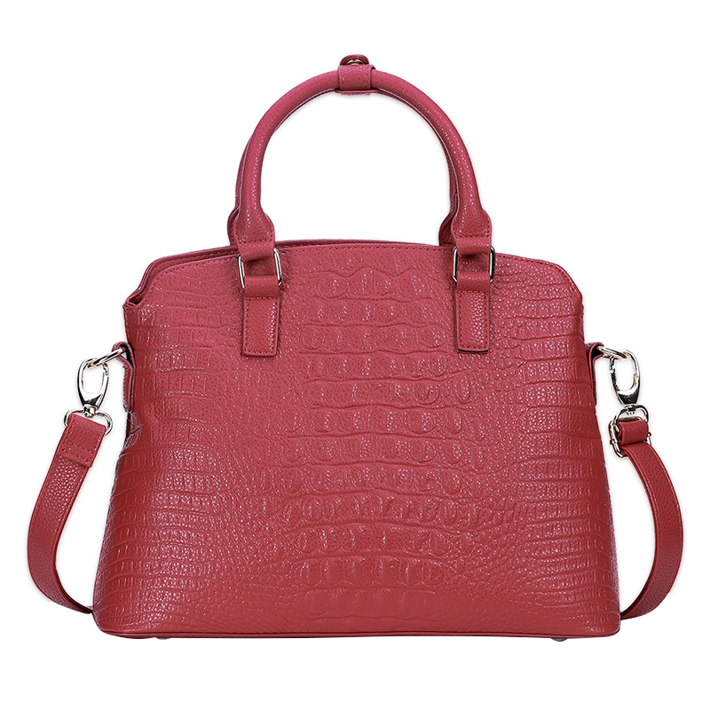 New Alligator Fashion Women Composite Shoulder Bag Set PU Leather Elegant Messenger Bags Female Handbags 2pcs bag set women messenger shoulder bag solid pu leather casual crossbody quilted bags set women clutch composite handbags red