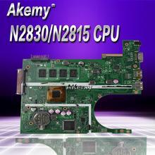 Akemy X200MA материнская плата для ноутбука ASUS X200MA F200M F200MA Тесты Оригинал материнская плата 2G-RAM N2830/N2815