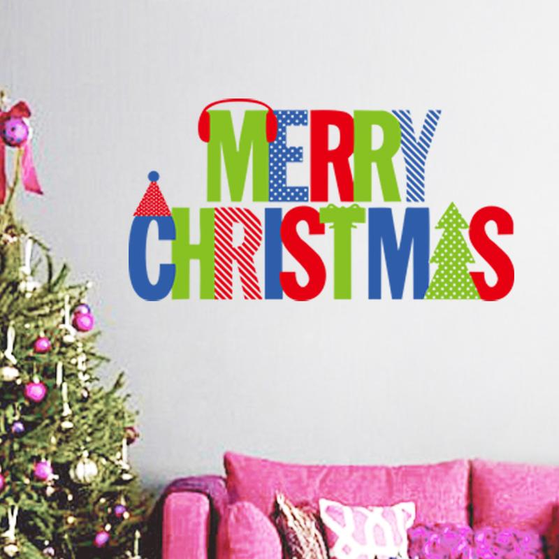 merry christmas quotes wall stickers christian room home decoration ...