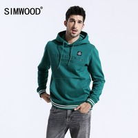 SIMWOOD Brand Hoodies Men Fashion Letter Print Hoodie Pullover High Quality Hip Hop Tracksuits For Men Sweatshirts Male 180479