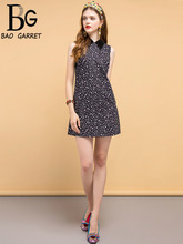 Baogarret Summer Fashion Designer Dress Womens Sleeveless Sequined Star Printed Elegant Vintage Vacation Ladies Dresses