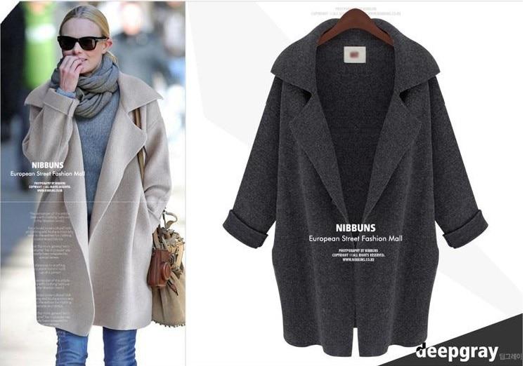 2015 Herbst Neue Frauen Lose Große Yards Lange Stricken Pullover Strickjacke Pullover Jacke Weibliche