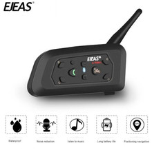 EJEAS Motorcycle Intercom Helmet Headset Bluetooth Moto Speaker Wireless Talking Range Within 1200m