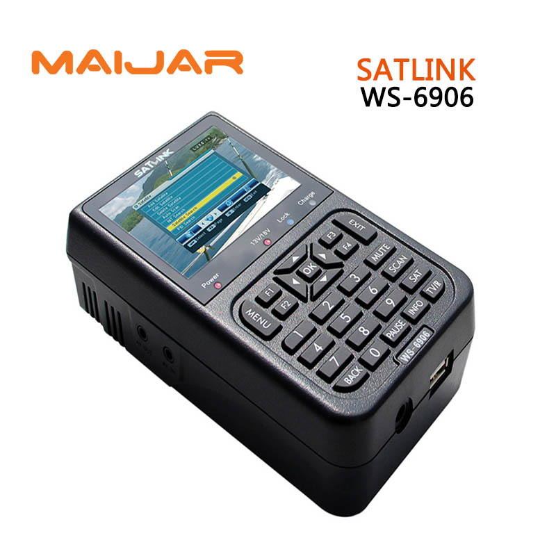 [GENUINE] Digital satellite finder meter WS6906  Digital terrestrial signal satlink  ws-6906 3.5 inch HD TFT LCD display finder anewkodi original satlink ws 6906 3 5 dvb s fta digital satellite meter satellite finder ws 6906 satlink ws6906