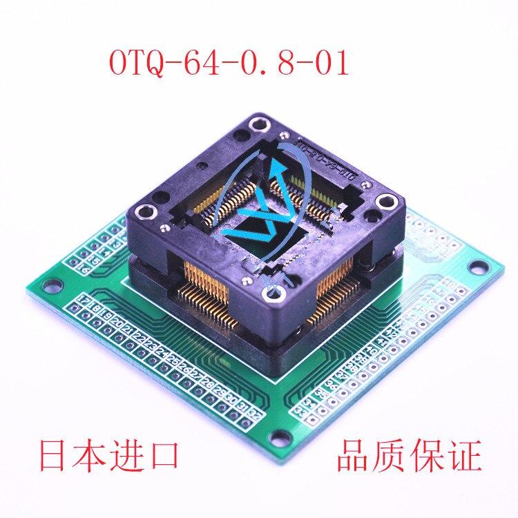 Test burn block OTQ 64 0 8 01 QFP64 LQFP64 package aging block programming block original