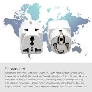 Image 3 - Adaptador de enchufe europeo de alta calidad, adaptador de corriente de viaje Universal para Cargador eléctrico, 1 unidad
