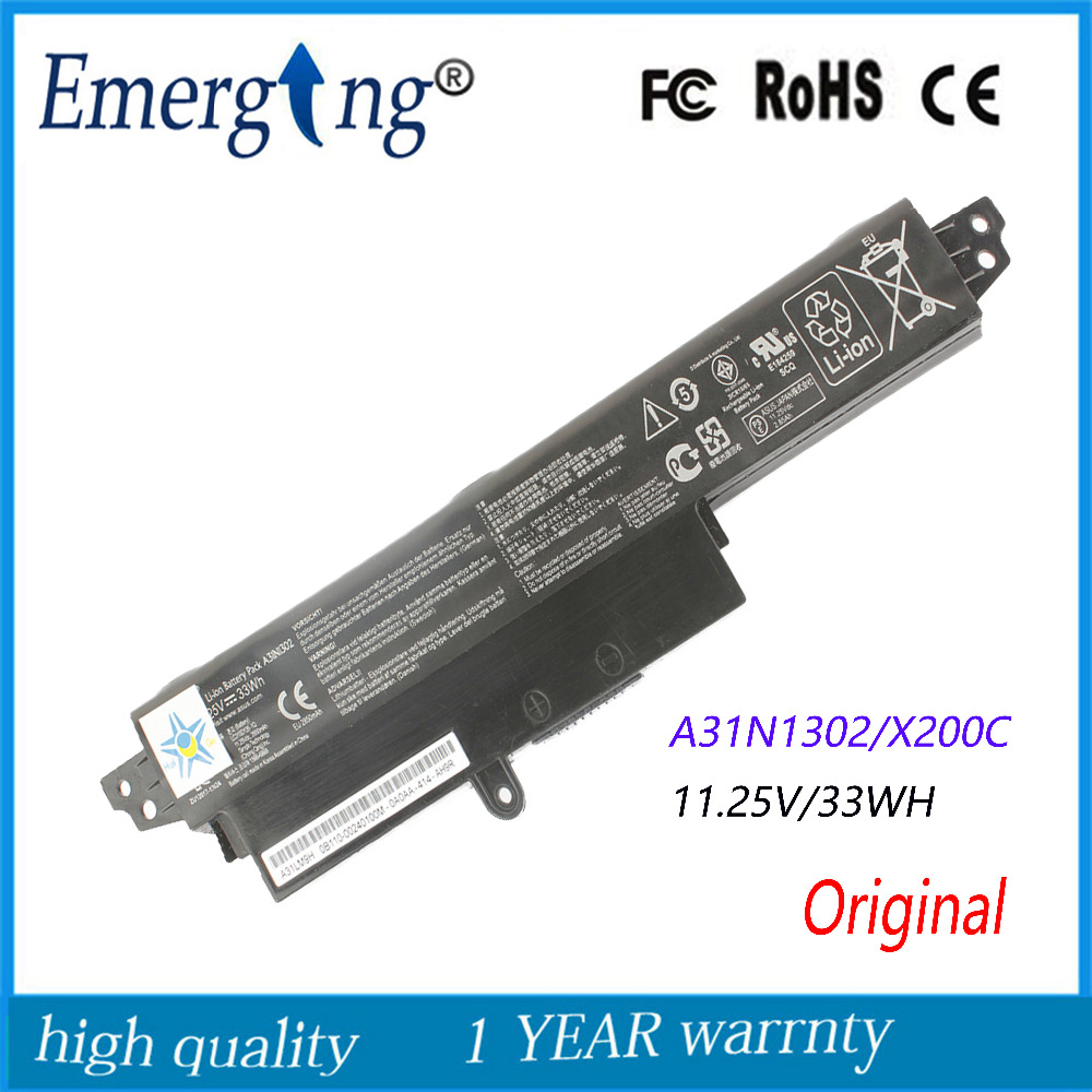 New Original  Laptop Battery for ASUS VivoBook A31N1302 VivoBook X200CA X200MA X200M X200LA F200CA 200CA 11.6 A31LMH2 new laptop battery for asus k40 x8a oem 4400mah 11 1v