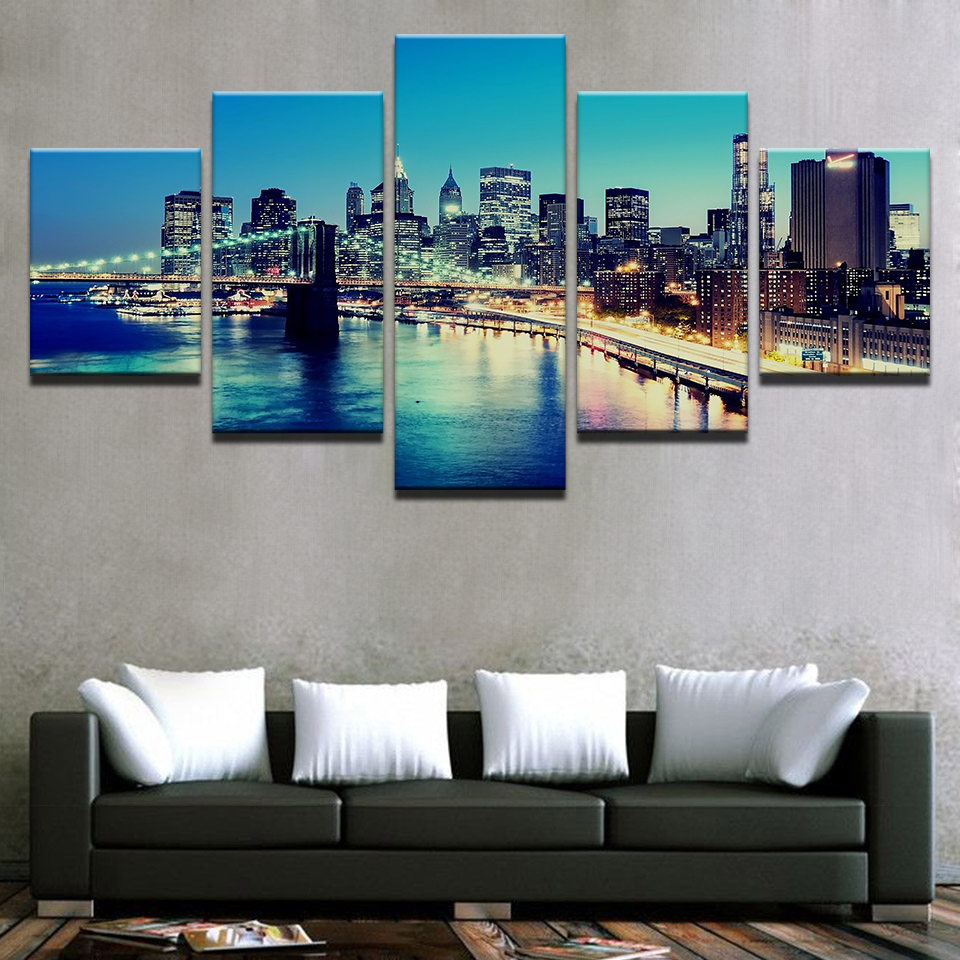 Frame Pictures Vintage Home Decor Paintings On Canvas 5 Panel New ...