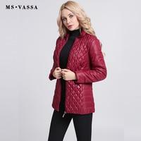 2016 Autumn Winter Women S Cotton Padded Down Outerwear Cotton Slim Elastic Quilting Jacket