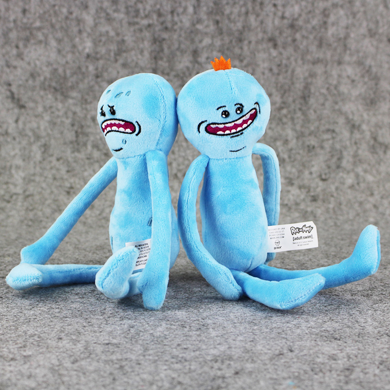 1 шт. Рик Морти и Счастливы и Грустно Г-Н Meeseeks фаршированные плюшевые игрушки бесплатная доставка