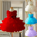 2015 New Girls Toddler 3D Flower Tutu Layered Princess Party Bow Kids Formal Dress,girl princess dress,girl flower dress LF058
