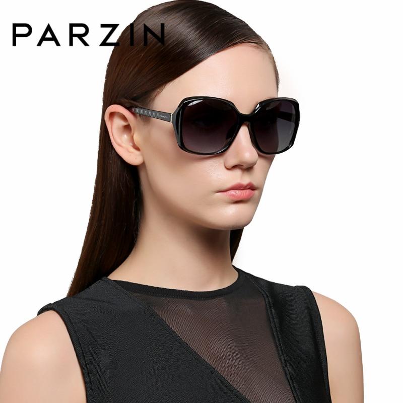 Großen Designer Frame Mode black Weibliche Red Marke blau Parzin Qualität Gläser Wine Für Rahmen Frauen Frame Oval brown 9501 Polarisierte Sonnenbrille Echt nCEwR4