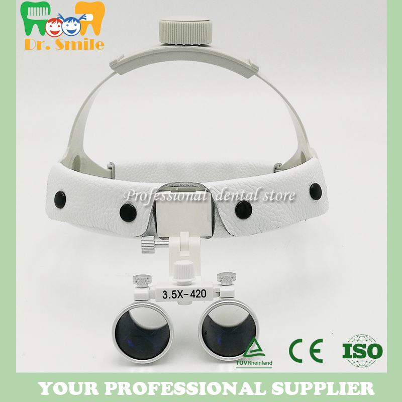 3.5 x headset Dental Loupe magnifier Head wear surgical loupes surgeon medical enlarging lens surgical magnifier