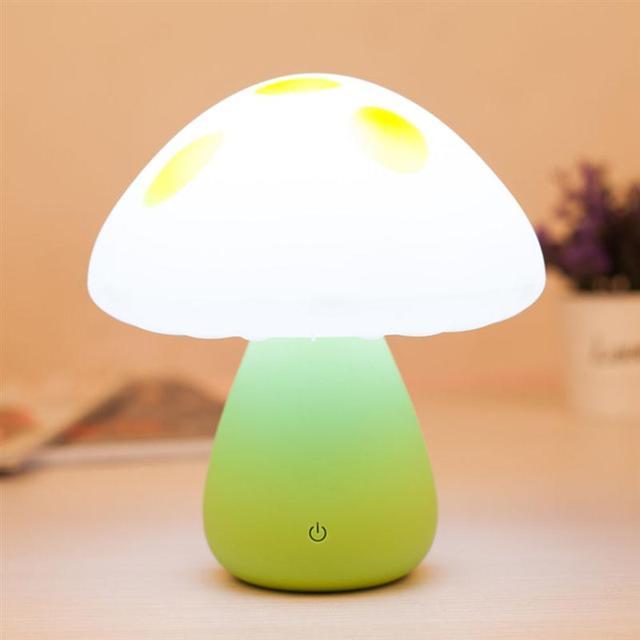 Carga USB Portátil Cogumelo Bonito Led Berçário Noite Mesa de Luz Noturna Quarto Lâmpada Clima Romântico Para O Presente Das Crianças