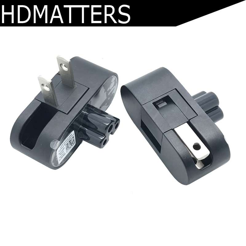Foldable AC  Power Plug Adapter For Dell XPS13 XPS 13 2015 Laptop Power Adapter 3 To 2 Pin Plug