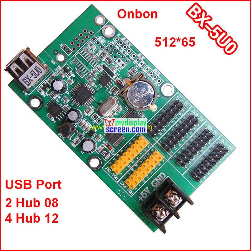 Onbon BX-5U0 Controller, Usb + Ethernet Port, 512*64,support HUB12+hub08,use For Monochrome,bi-color,ledshowtw 2014 Controller