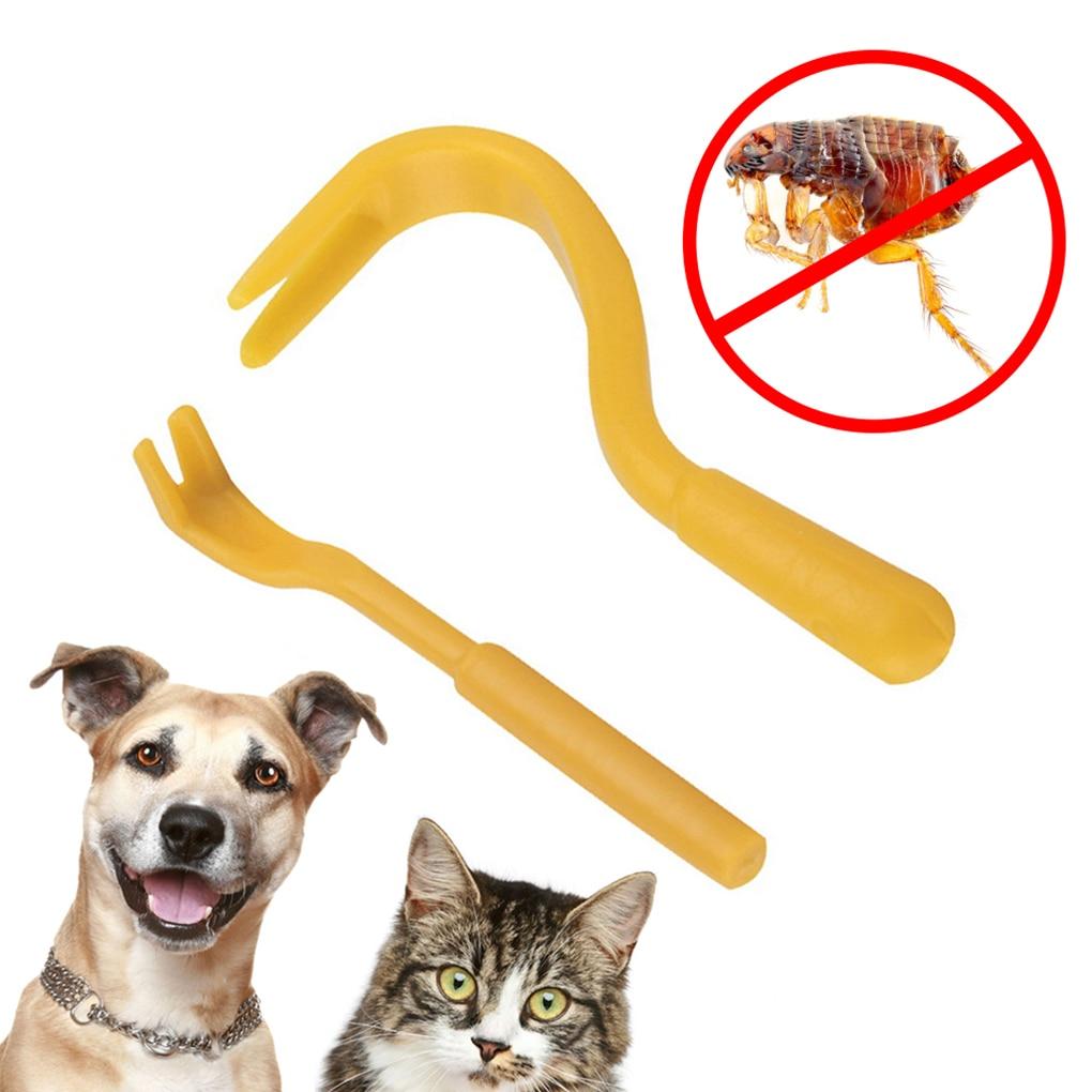 2pcs Louse Flea Scratching Remover Hook Tool Human Dog Pet Horse Cats Tick Comb
