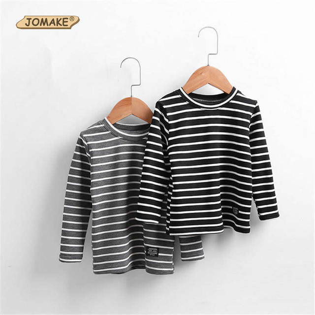 Striped Kids Long Sleeve T-Shirts New Children Costumes For Girls/Boys 2017 Spring Kids Bottom T-Shirts Casual Toddlers Clothes