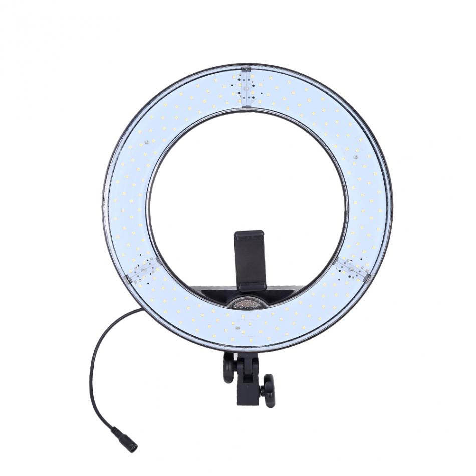 12 Inch LED Ring Light Diffuser Phone Camera Clip Bracket Holder Photograpic Lighting for Live Broadcast US Plug