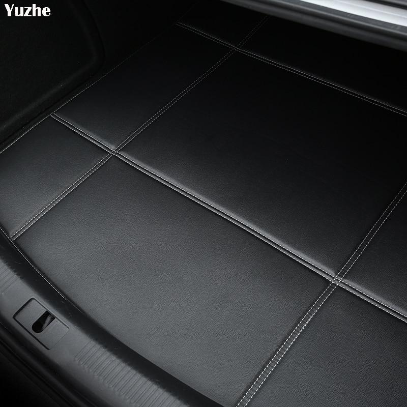Yuzhe Car Trunk Mats For Hyundai ix35 tucson solaris creta i30 accent elantra Waterproof Carpets car accessories Cargo Liner 2x for hyundai solaris accent tucson i30 ix35 santa fe elantra 9012 9003 h4 9004 9005 h7 h11 led headlight bulb fog lamp 16000lm