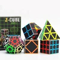 Brand 5PCS/SET Carbon Fiber Professional Magic Cube 3x3x3 Puzzle Cubo Magico Sticker High quality toys NEO for children adult
