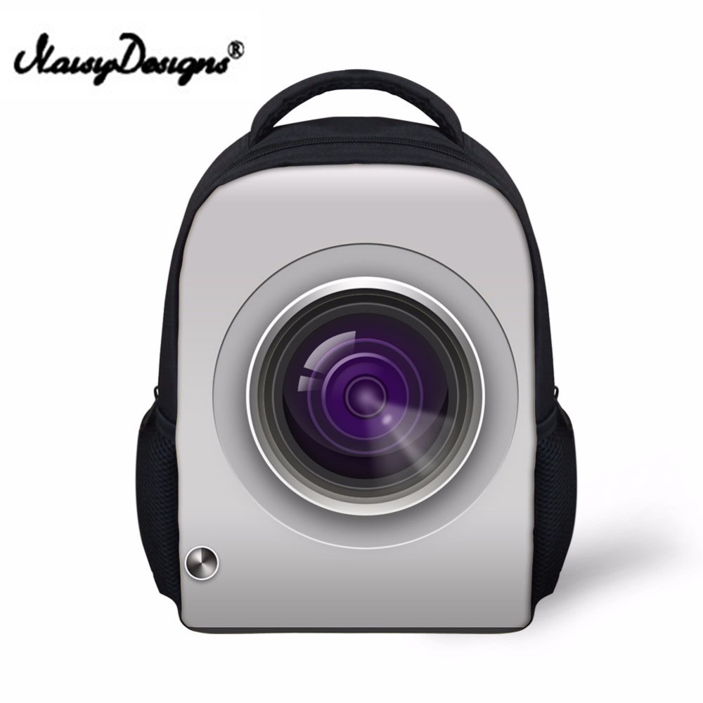 Noisydesigns Children School Bags Camera Schoolbag For Boys Small 3D Level Backpack Kid  ...