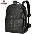 2016 Designer Men Leather Backpacks Daypack Alligator Crocodile School bags For Teenagers College Travel Bags Waterproof Mochila
